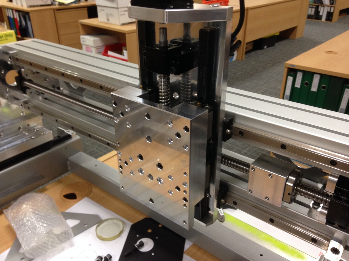 Diy cnc router component machining gantry assembly for Diy router